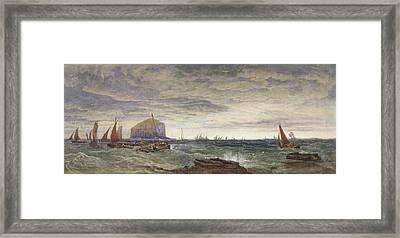 The Bass Rock At Dawn Framed Print by Edward Duncan