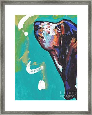 The Basset Has It Framed Print by Lea S