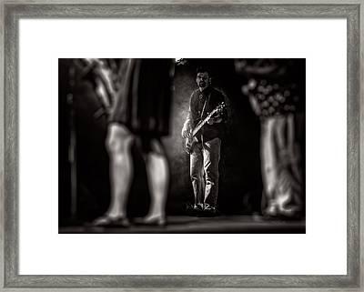 The Bassist Framed Print by Bob Orsillo