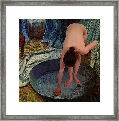 The Bather Framed Print by Don McCunn