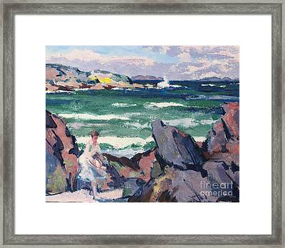 The Bather Framed Print by Francis Campbell Boileau Cadell