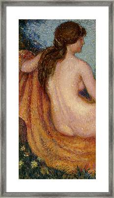 The Bather Framed Print by Georges Lemmen