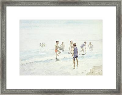 The Bathers Framed Print by Edward van Goethem