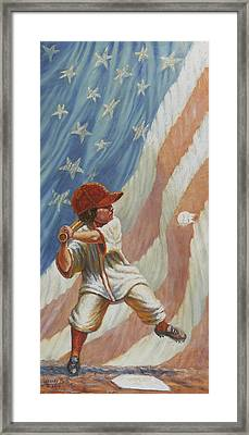 The Batter Framed Print by Gregory Perillo