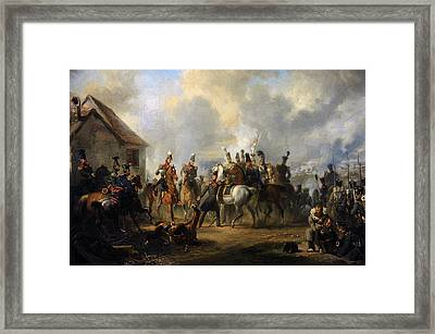 The Battle Of Bautersem During The Ten Days Campaign, 1833, By Nicolaas Pieneman 1809-1860 Framed Print by Bridgeman Images