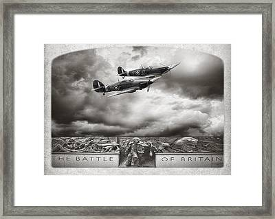 The Battle Of Britain Framed Print by Peter Chilelli