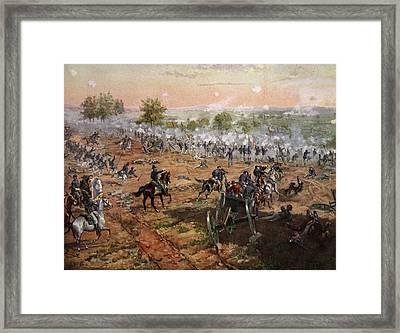 The Battle Of Gettysburg, July 1st-3rd Framed Print by Henry Alexander Ogden