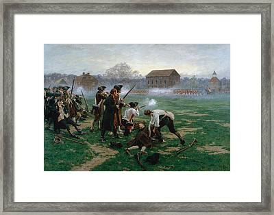 The Battle Of Lexington, 19th April Framed Print by William Barnes Wollen