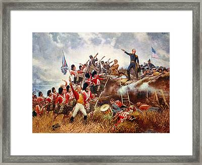 The Battle Of New Orleans Framed Print by Percy Moran