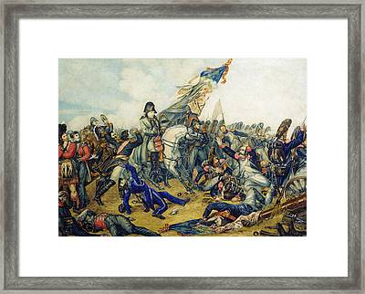 The Battle Of Waterloo In 1815, 1831 Wc & Ink On Paper Framed Print by Charles Steiben