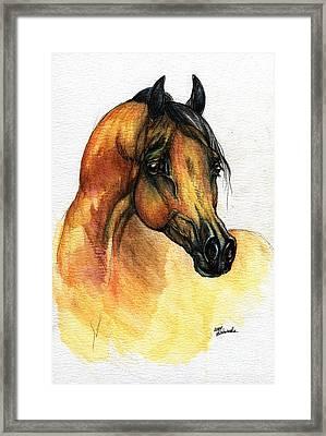 The Bay Arabian Horse 14 Framed Print by Angel  Tarantella