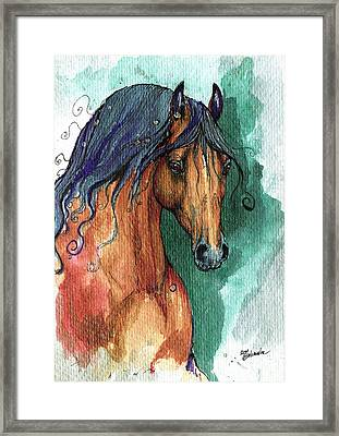 The Bay Arabian Horse 7 Framed Print by Angel  Tarantella