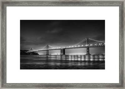 The Bay Bridge Monochrome Framed Print by Scott Norris