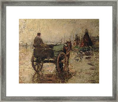 The Beach At St Ives Framed Print by Harry Fidler