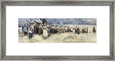 The Beach Berck Sur Mer Framed Print by Patty Townsend Johnson