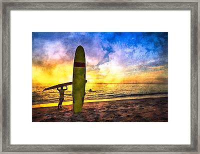 The Beach Boys Framed Print by Debra and Dave Vanderlaan