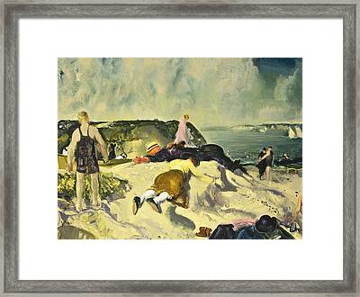 The Beach Newport Framed Print by George Wesley Bellows