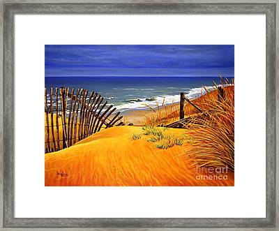 The Beach Framed Print by Walaa