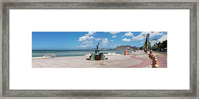 The Beachside Strolling Malecon Framed Print by Panoramic Images