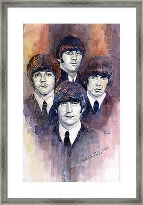 The Beatles 02 Framed Print by Yuriy  Shevchuk
