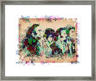 The Beatles 10 Framed Print by Bekim Art