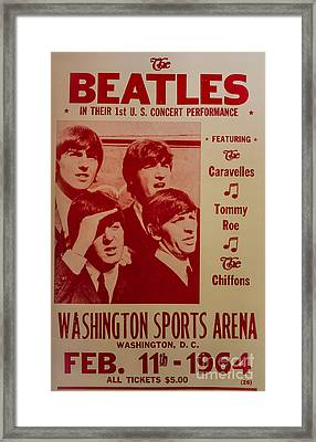 The Beatles 1st U.s. Concert Framed Print by Mitch Shindelbower