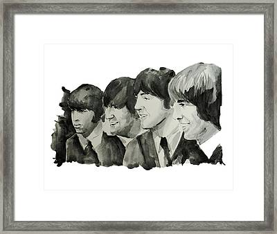 The Beatles 2 Framed Print by Bekim Art
