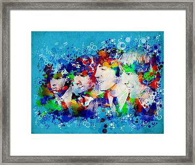 The Beatles 6 Framed Print by Bekim Art