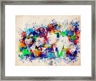 The Beatles 7 Framed Print by Bekim Art