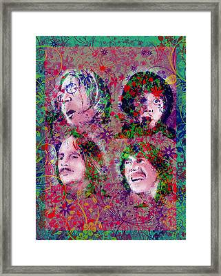 The Beatles 8 Framed Print by Bekim Art