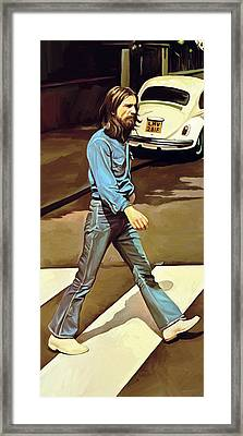 The Beatles Abbey Road Artwork Part 1 Of 4 Framed Print by Sheraz A