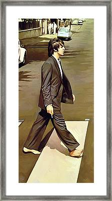 The Beatles Abbey Road Artwork Part 2 Of 4 Framed Print by Sheraz A