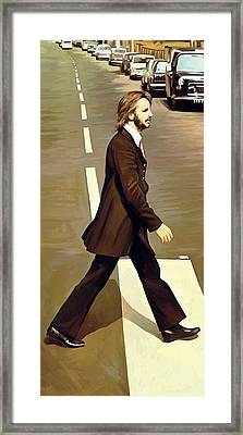 The Beatles Abbey Road Artwork Part 3 Of 4 Framed Print by Sheraz A