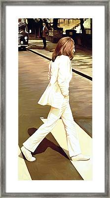 The Beatles Abbey Road Artwork Part 4 Of 4 Framed Print by Sheraz A