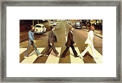 The Beatles Abbey Road Artwork Framed Print by Sheraz A