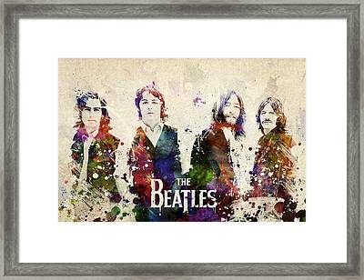 The Beatles Framed Print by Aged Pixel