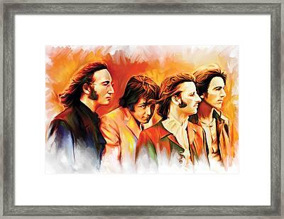 The Beatles Artwork Framed Print by Sheraz A