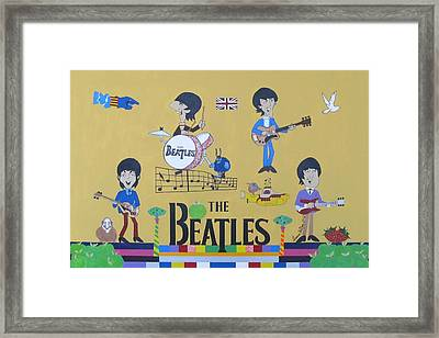 The Beatles Yellow Submarine Concert Framed Print by Donna Wilson