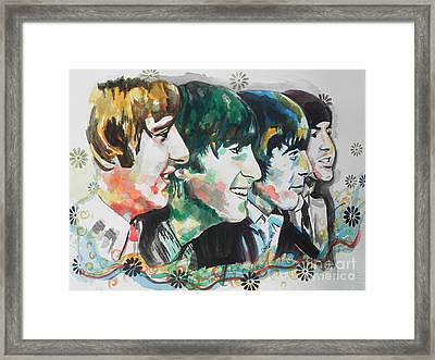 The Beatles 01 Framed Print by Chrisann Ellis