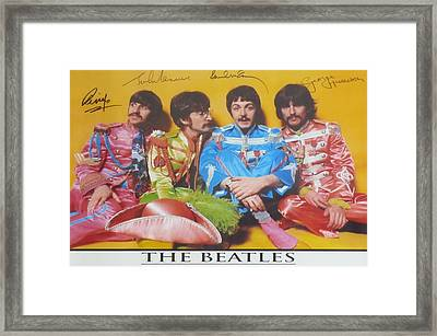 The Beatles Framed Print by Donna Wilson