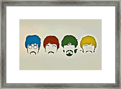 The Beatles Framed Print by Florian Rodarte