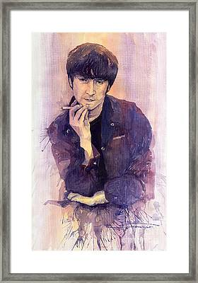 The Beatles John Lennon Framed Print by Yuriy  Shevchuk