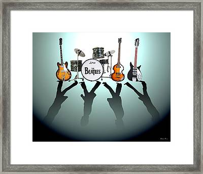 The Beatles Framed Print by Lena Day
