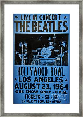 The Beatles Live At The Hollywood Bowl Framed Print by Mitch Shindelbower