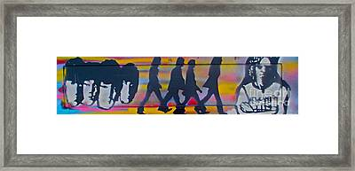 The Beatles Long Wood Framed Print by Tony B Conscious