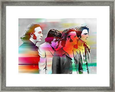 The Beatles Painting Framed Print by Marvin Blaine