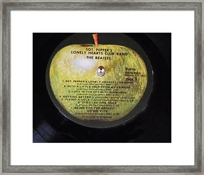 The Beatles Vinyl - Sgt. Pepper's Framed Print by Dianna Jackson