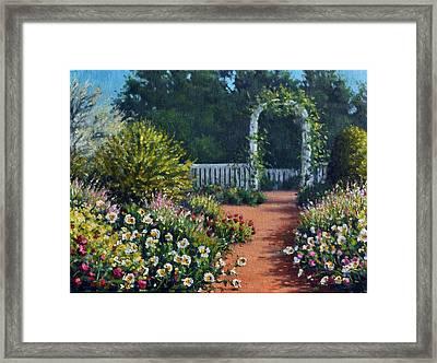 The Beautiful Garden Framed Print by Rick Hansen