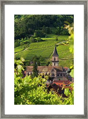 The Beautiful Presbytere Catholique Framed Print by Brian Jannsen
