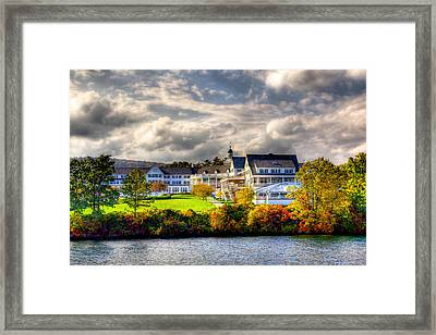 The Beautiful Sagamore Hotel On Lake George Framed Print by David Patterson